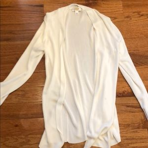 Talbots White Long Sweater